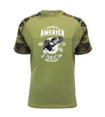 Welcome To America Raglan Military