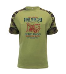 Push Yourself Raglan Military