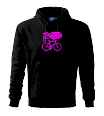Lets go ride Mikina s kapucí hooded sweater