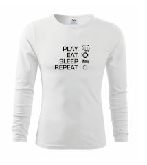 MMA eat sleep repeat Triko s dlouhým rukávem FIT-T long sleeve