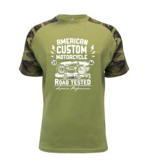 American Custom Motorcycle Raglan Military