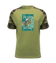 Stop wishing start doing želva Raglan Military