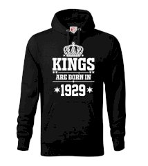Kings are born in 1929 Mikina s kapucí hooded sweater