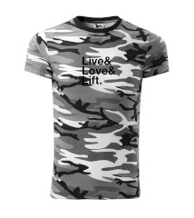 Live, love, lift Army CAMOUFLAGE