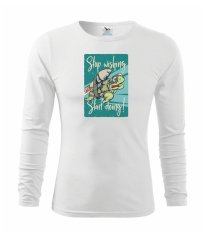 Stop wishing start doing želva Triko dětské Long Sleeve