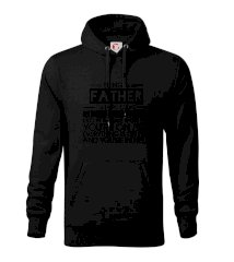 Being a father - bike Mikina s kapucí hooded sweater