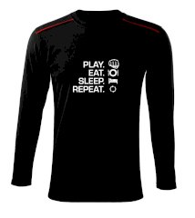 MMA eat sleep repeat Triko s dlouhým rukávem Long Sleeve