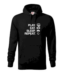 MMA eat sleep repeat Mikina s kapucí hooded sweater