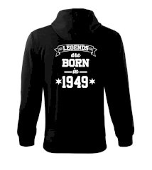 Legends are born in 1949 Mikina s kapucí na zip trendy zipper