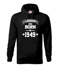 Legends are born in 1949 Mikina s kapucí hooded sweater