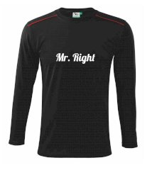 Mrs Right - Mr Right Triko s dlouhým rukávem Long Sleeve