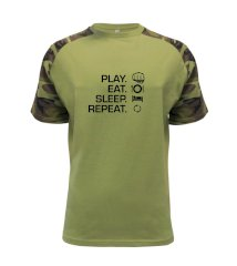 MMA eat sleep repeat Raglan Military