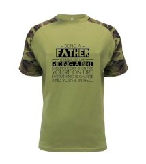 Being a father - bike Raglan Military