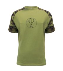 Made in LA Raglan Military