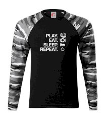 MMA eat sleep repeat Camouflage LS