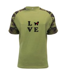 Shih Tzu love Raglan Military