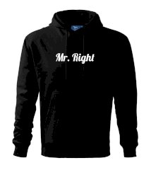 Mrs Right - Mr Right Mikina s kapucí hooded sweater