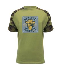 Pirate monkey Raglan Military