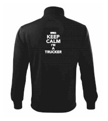 Keep calm im a trucker  Mikina bez kapuce Adventure