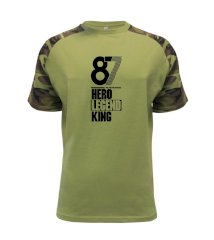 Hero, Legend, King x Queen 1987 Raglan Military