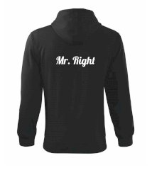 Mrs Right - Mr Right Mikina s kapucí na zip trendy zipper