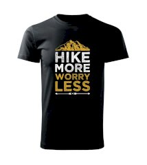 Hike more worry less - Heavy new - triko pánské