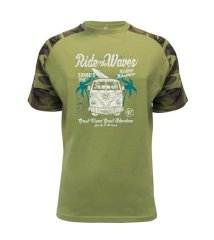 Ride The Waves Raglan Military