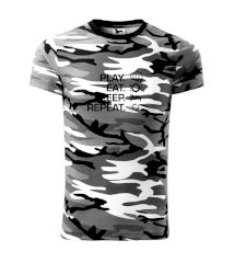 MMA eat sleep repeat Army CAMOUFLAGE