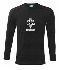 Keep calm im a trucker  Triko s dlouhým rukávem Long Sleeve