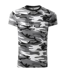 Eat sleep buy watch reapeat Army CAMOUFLAGE