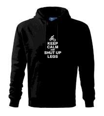 Keep calm and shut your legs Mikina s kapucí hooded sweater