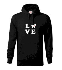 Shih Tzu love Mikina s kapucí hooded sweater